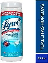 Lysol Toallitas Desinfectantes, Crisp Linen, Azul y blanco 1 paquete
