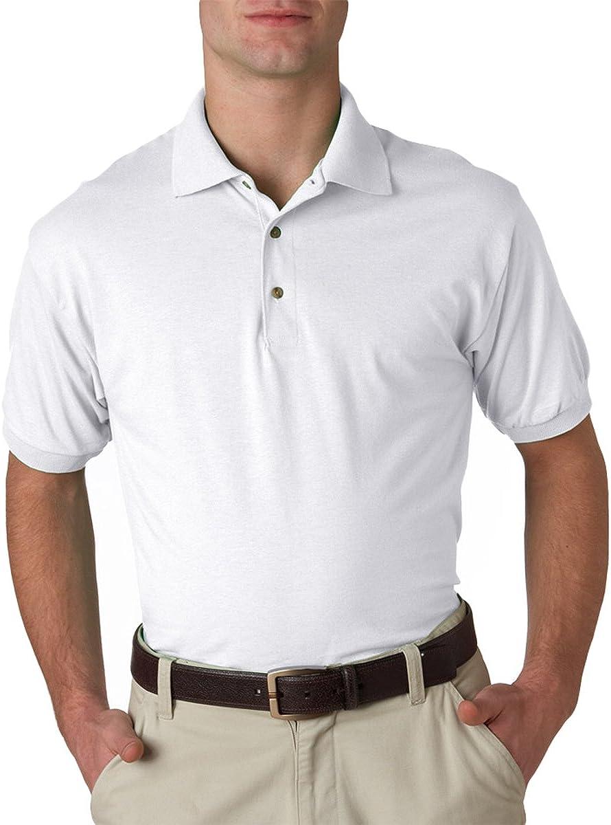 Gildan DryBlend Youth 5.6 oz., 50/50 Jersey Polo (G880B)- WHITE,S