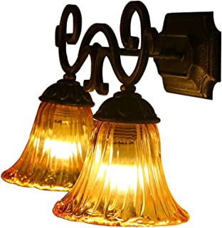 MX Light Fixture Simple Pastoral Restaurant/Bar/Bedroom/Bedside Wall Lamp Retro Bathroom Mirror Front Light Industrial Win...