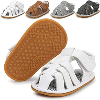 Infant Baby Boys Girls Summer Sandals Non Slip Soft Sole Toddler First Walker Crib Shoes(0-18 Months)