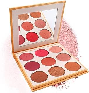 Polykor 3D Matte Makeup Blush Palette Blusher Natural Face Blush Powder