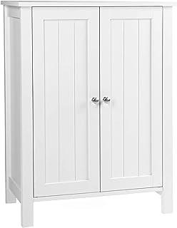 VASAGLE Armario para baño Armario de almacenaje Dos puertas