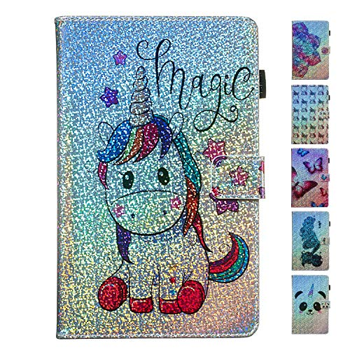 ANCASE Tablet Case voor Samsung Galaxy Tab A 10.5 Inch (2018) T590 T595 Lederen Folio Glitter Bling Patroon Ontwerp