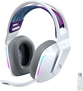 Logitech G733 LIGHTSPEED Wireless Gaming Headset with suspension headband, LIGHTSYNC RGB, Blue VO!CE mic technology and PR...