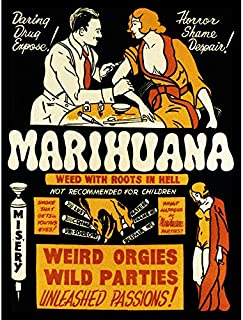 Propaganda Political Drug Abuse Marijuana Weed Weird Cool Large Art Print Poster Wall Decor 18x24 inch