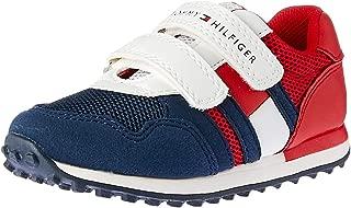 TOMMY HILFIGER Tri Tone Velcro Sneaker Boys Tri Tone Velcro Sneaker, Blue/White/Red