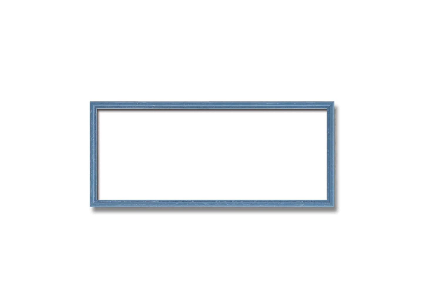 工業化するイディオムブースト【長方形額】木製額 縦横兼用額 カラー4色展開 ■カラー長方形額 (ブルー, 300×150mm)