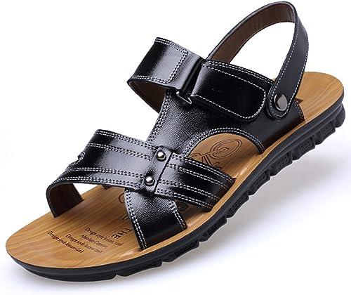 Kieuyhqk Sandales de Plage à Chevrons Sandales de Confort décontractées à Bout Ouvert pour Hommes, adaptées aux Sports de Loisirs en Plein air (Taille   40 EU)