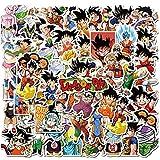 Wopin 100 pegatinas de bolas de dragón de anime impermeables para niños, adolescentes, adultos, vinilo para portátiles para botellas de agua, equipaje, monopatín, parches de graffiti