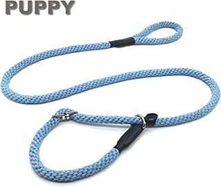 "Mycicy Slip Lead Rope Leash for Medium and Large Dogs, 5/8"" x 5Ft Soft Cotton Braided Leash, Adjustable No Pull Training Dog Leash"