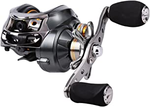 Sougayilang Baitcasting Reel, 11+1 Stainless Steel Bearings, 18LB Super Drag, Magnetic Brake System Fishing Reel for Bass, Crappies, Perch, Trout, Walleyes Fishing