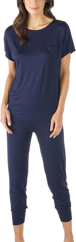 Mey 13933408 Women's Selina Night bluee Solid Colour Pajama Pyjama Set