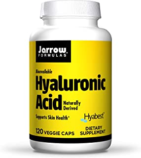 Jarrow Formulas Hyaluronic Acid 50 mg - 120 Veggie Caps - Bioavailable & Naturally Derived - Supports Skin Health - Pure H...