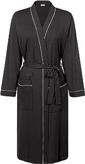 Cherrydew Womens Cotton Long Robe Soft Kimono Bathrobe Lightweight