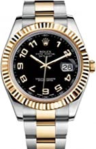 Rolex Datejust Ii 41mm Black Arabic Dial Men's Watch 116333