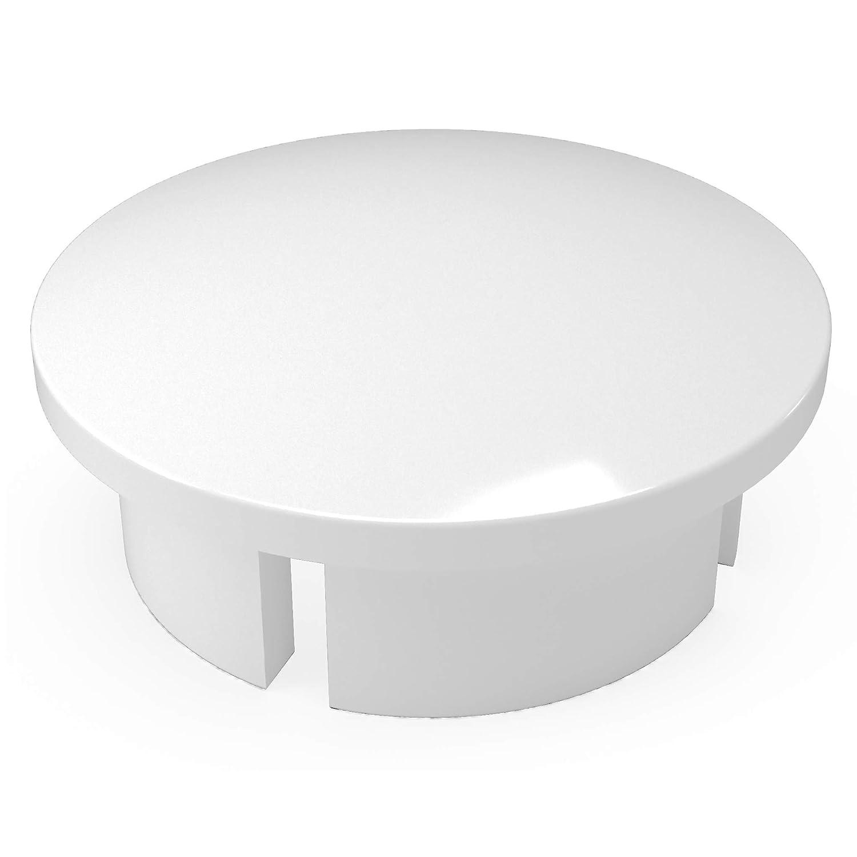Boston Mall FORMUFIT F112IDC-WH-10 Max 50% OFF PVC Internal Domed Gra Furniture End Cap