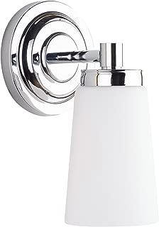 Sheffield 1 Light Bathroom Vanity Chrome w/Frosted Glass Linea di Liara LL-WL260-1-PC