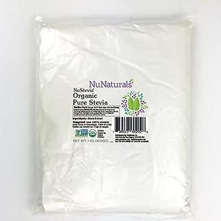 NuNaturals Organic Pure White Stevia Extract Powder All Purpose Natural Sweetener, Sugar