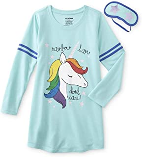 Unicorn Glitter Nightgown and Sleep Mask Set - Rainbow Hair Don t Care 9a079edeb