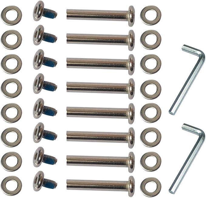 8x//set inline roller axles blades screws skate wheel bolts for skateShoes NiO/_fd