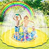Pulchram Splash Pad 170cm,Sprinkler Splash Play Matte,Splash Spielmatte Sprinkler...