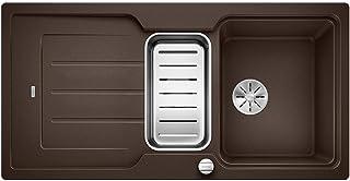BLANCO Classic Neo 6 S, Küchenspüle aus Silgranit PuraDur, reversibel, Cafe / mit InFino-Ablaufsystem, inklusive SmartCut-Schneidbrett und Ablauffernbedienung 524126