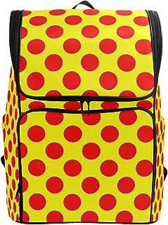 FAJRO Mochila de Viaje con Lunares Rojos Brillantes, Mochila de Senderismo, Mochila de Camping para Deportes al Aire Libre