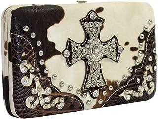 Western Cow print cross cross wallets