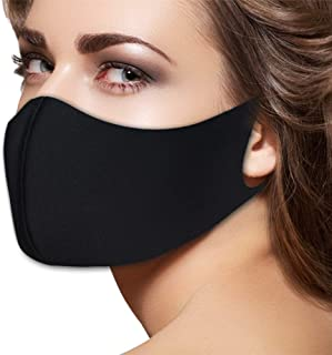Fashion Flu Dust Masks N95 Filters Breathable Safety Respirator for Outdoor Cycling Half Face Mask Dust Pollen Flu Germs Allergens Surgical Masks for Women Men (Black)