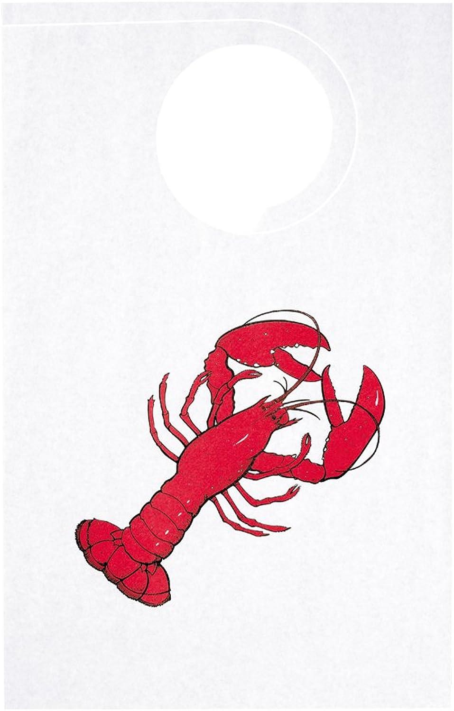 Hoffmaster BPTA-LBSTR Adult Tissue Poly-Backed Bib, 21-1 4  Length x 14  Width, Lobster (Case of 500)