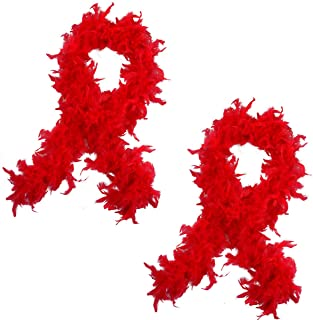 Feather Boas - 2 Pack Marabou Boas, Party Dress Up Costume Accessories, 72 Inch Long