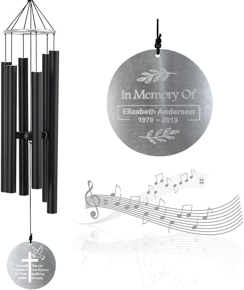 ASTARIN Personalized Memorial Wind Chimes Ton 低価格 期間限定お試し価格 Large Outdoor deep