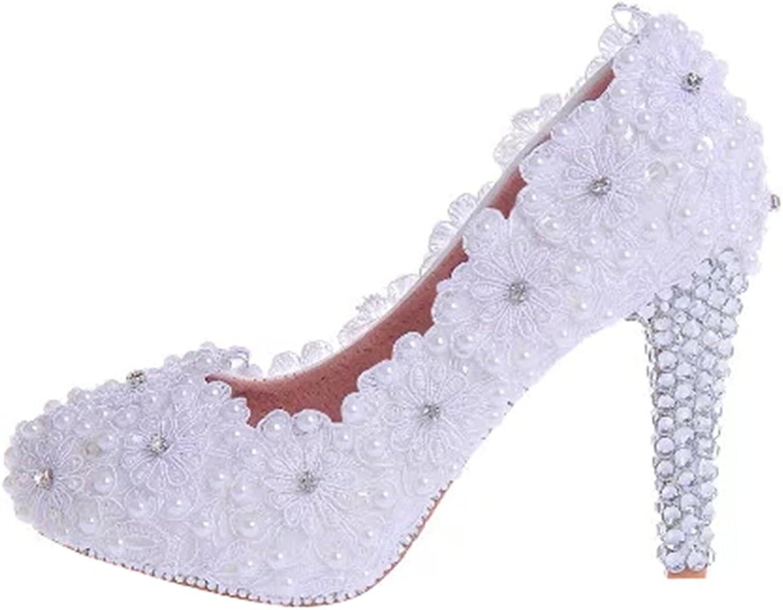 TDA Women's Charming Applique Wedding Party Dress Stiletto Pumps