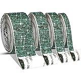 4 Rollos Cintas Autoadhesivas de Diamantes de Imitación Cristal Pegatinas de Decoración de DIY con Diamantes de 2 mm para Artesanía, Decoración Móvil Coche Evento (Verde Oscuro, 8,8 Yardas)