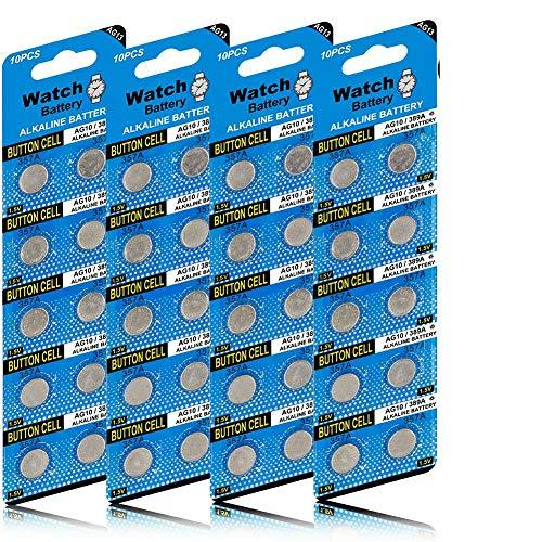 40 Stück AG13 LR44 1.5V Alkaline Knopfzelle Batterien Ohne Quecksilber (357/357A/L1154/A76/GPA76)