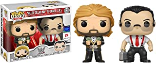'Million Dollar Man' Ted Dibiase & I.R.S (Walgreen's Exclusive): Funko POP! WWE x WWE Vinyl Figure + 1 Official WWE Trading Card Bundle