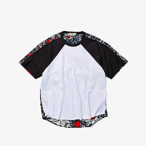 White/Black/Floating Buds Print