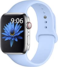Misker Sport Band Compatible with for Apple Watch Band 38mm 40mm 42mm 44mm, Soft Silicone Sport Strap Compatible with iWatch Series 5 4 3 2 1