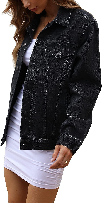 Tsher Cheap mail order sales Women's Oversize Vintage Washed C Jacket Sleeve Long Denim 1 year warranty