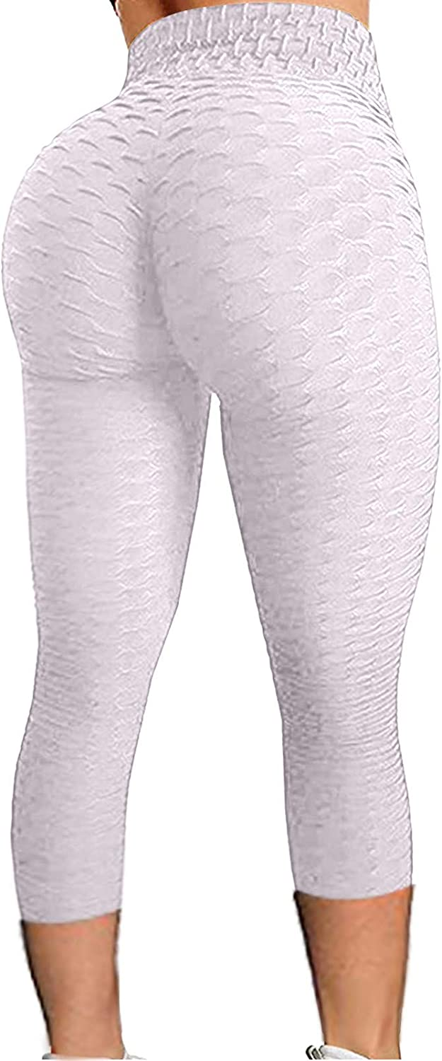 Famous TikTok Leggings,Womens High Waisted Sweatpants, Anti Cellulite Ruched Butt Lift Athletic Yoga Pants Tights