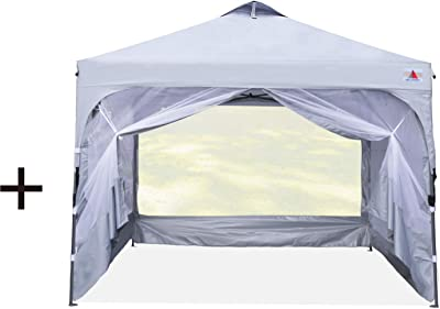 Bundle: 1 Sets of Beach Canopy & 1 Sets of Instant Shelter with Sidewalls, Learn More