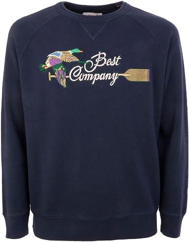 BEST COMPANY Luxury mode Homme 6920790800 Bleu Sweatshirt   Printemps été 19