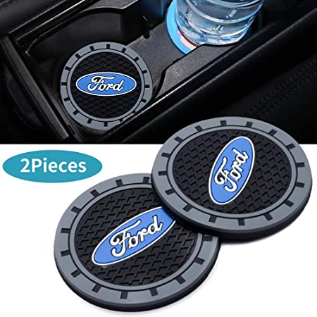 Auto sport 2.75 Inch Diameter Oval Tough Car Logo Vehicle Travel Auto Cup Holder Insert Coaster Can 2 Pcs Pack Cadillac