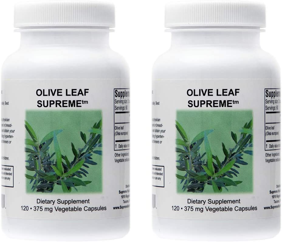 Supreme Rapid rise Nutrition Olive Leaf 120 Capsules 375 Factory outlet mg Pure