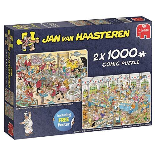 Jan van Haasteren 19083 puzzel levensmiddelfrenzy, 2 x 1000 delen