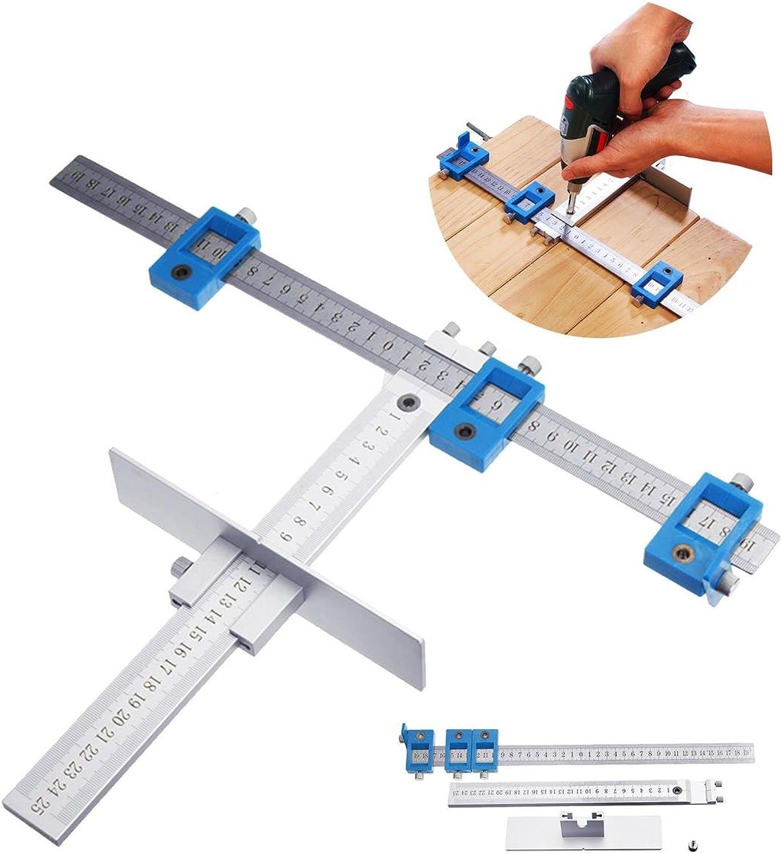 Bohrwerkzeug Drill Guide Set, Set, Set, Aluminium Position Cabinet Hardware Bohrlehre für die Holzbearbeitung by YMWLKE B07JQBZZPN   Sale Düsseldorf  ea6fbf
