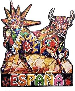 3D Mosaic Bullfighting Spain Refrigerator Fridge Magnet Tourist Souvenirs Handmade Magnetic Stickers Home Kitchen Decoration Travel Gift