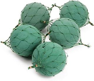 CRAFTY CAPERS Oasis Lot de 5 paquets de mousse florale pour boules de fleuristerie Vert 12 cm