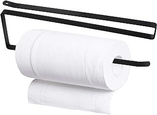 Changrongsheng Porte Essuie Tout sans Perçage, 25cm Supports pour Papier Essuie Tout en Acier, Porte Rouleau Papier de Cui...