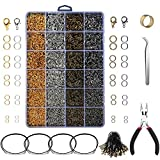 Yblntek 3143Pcs Jewelry Findings Jewelry Making Starter Kit with Open Jump Rings, Lobster Clasps, Jewelry...